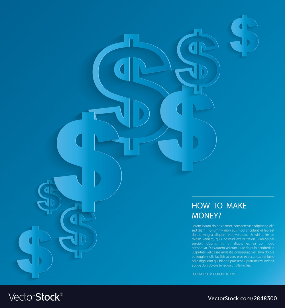 Dollar signs on blue background vector | Price: 1 Credit (USD $1)