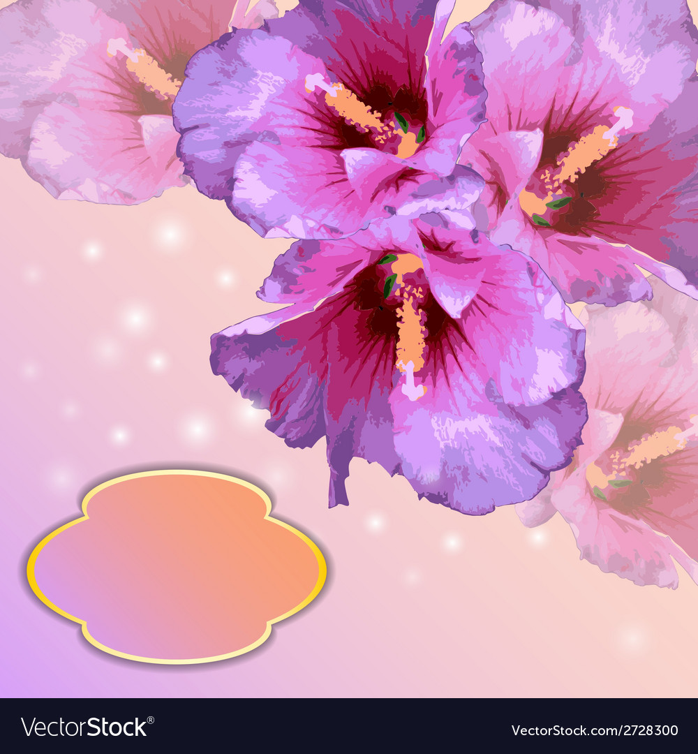 Frame with lovely flowers vector | Price: 1 Credit (USD $1)