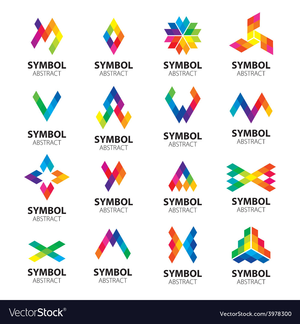 Set of logos abstract modules vector | Price: 1 Credit (USD $1)