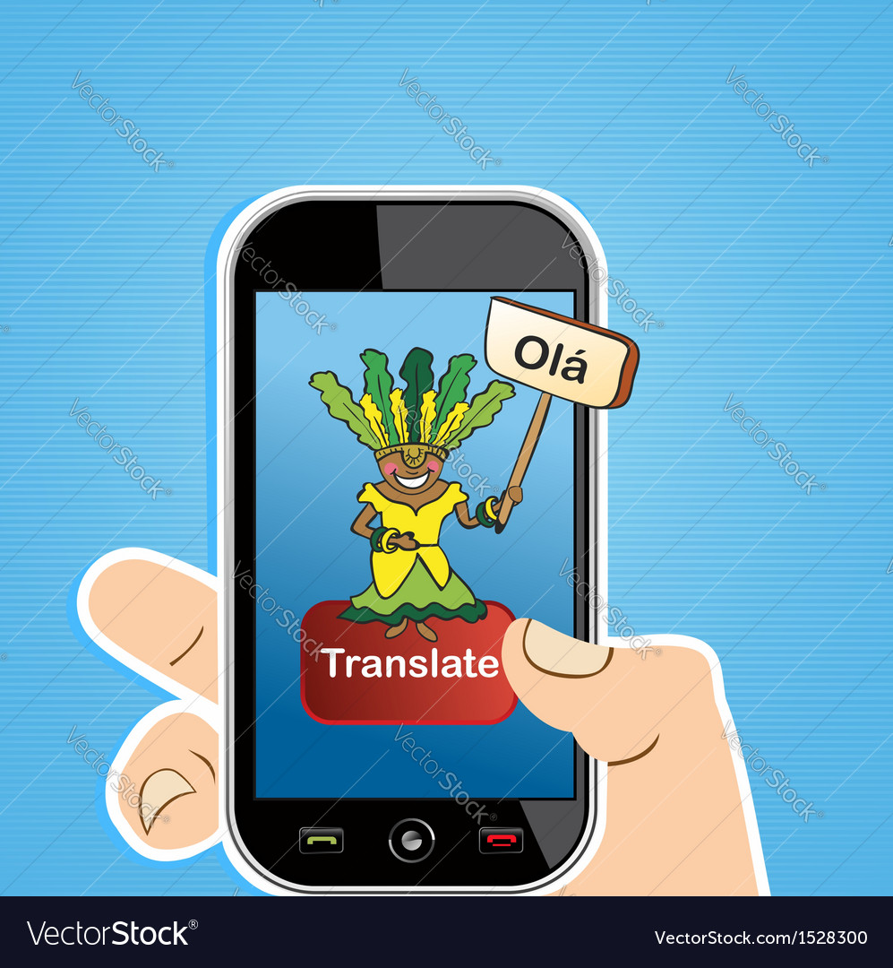 Smart phone translate concept vector | Price: 1 Credit (USD $1)