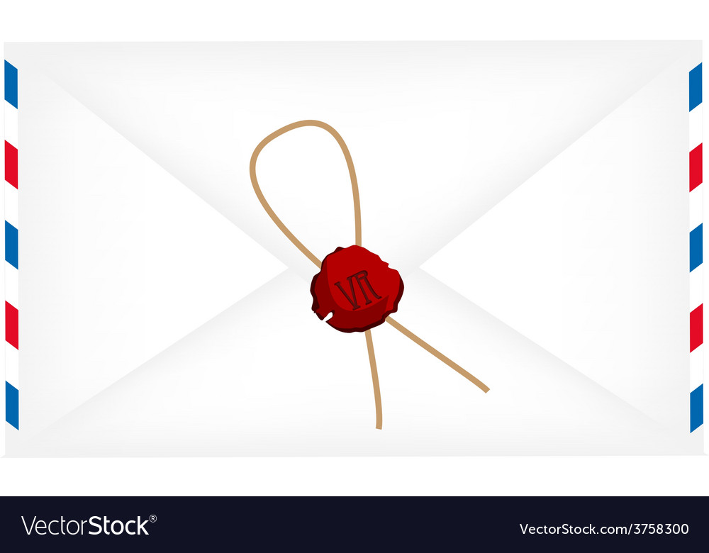 Wax sealed letter envelope vector | Price: 1 Credit (USD $1)