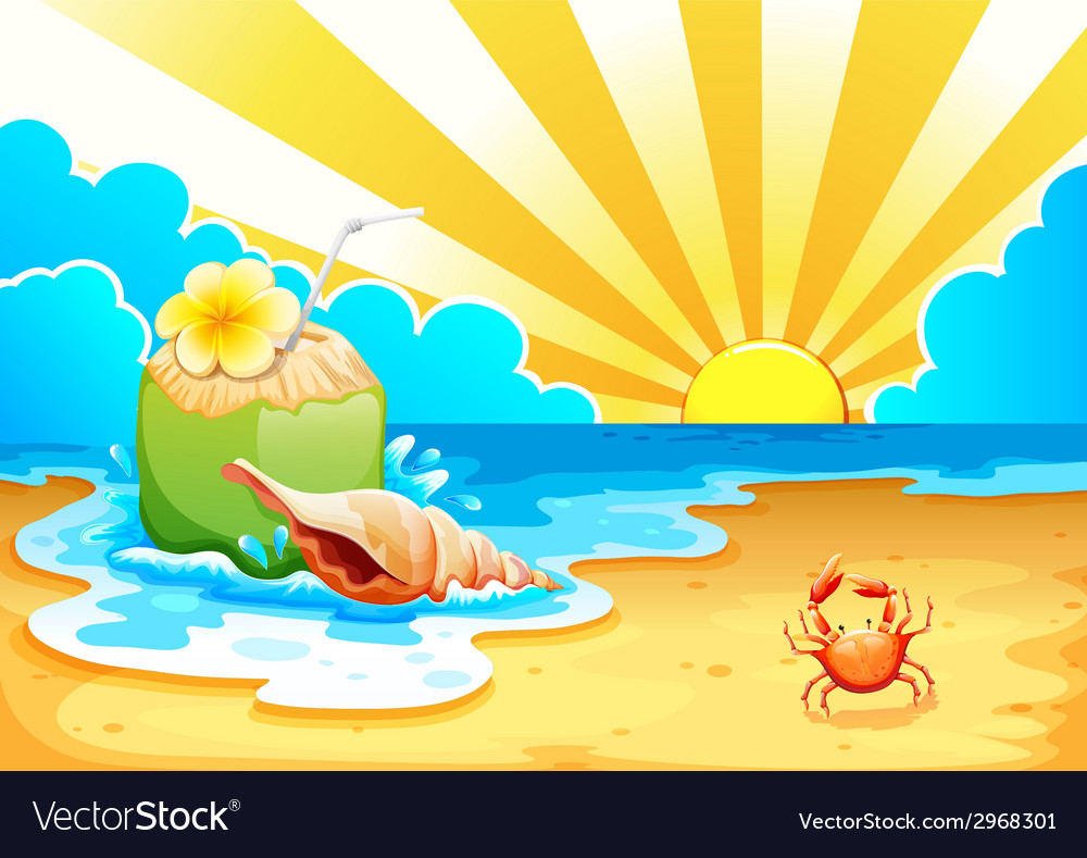 A beach vector | Price: 1 Credit (USD $1)