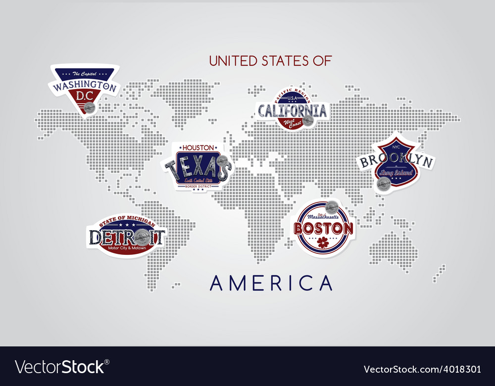 America emblem vector | Price: 1 Credit (USD $1)