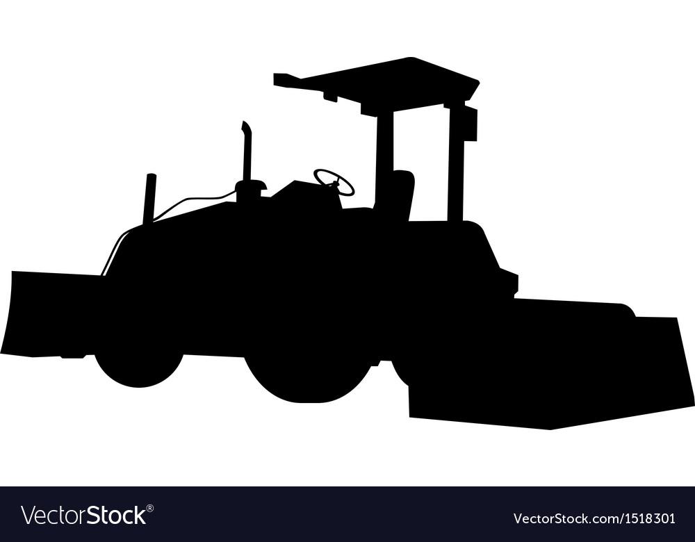 Bulldozer silhouette vector | Price: 1 Credit (USD $1)