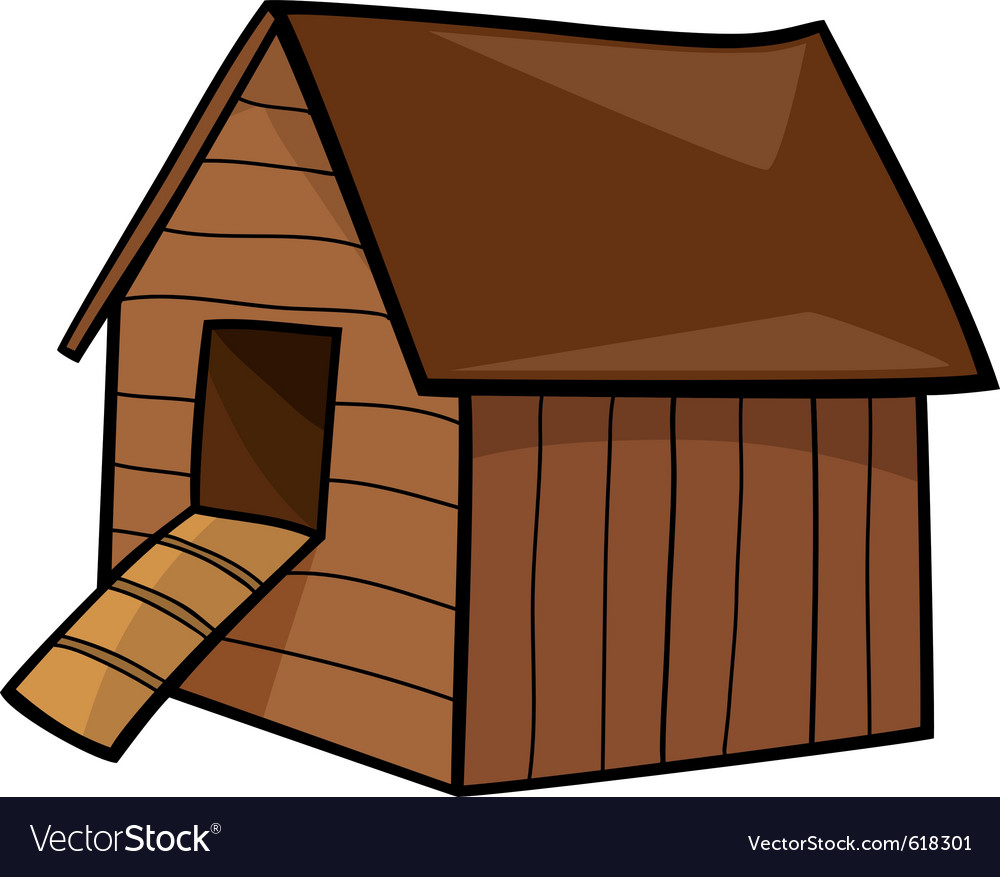 Cartoon of farm hen house vector | Price: 1 Credit (USD $1)