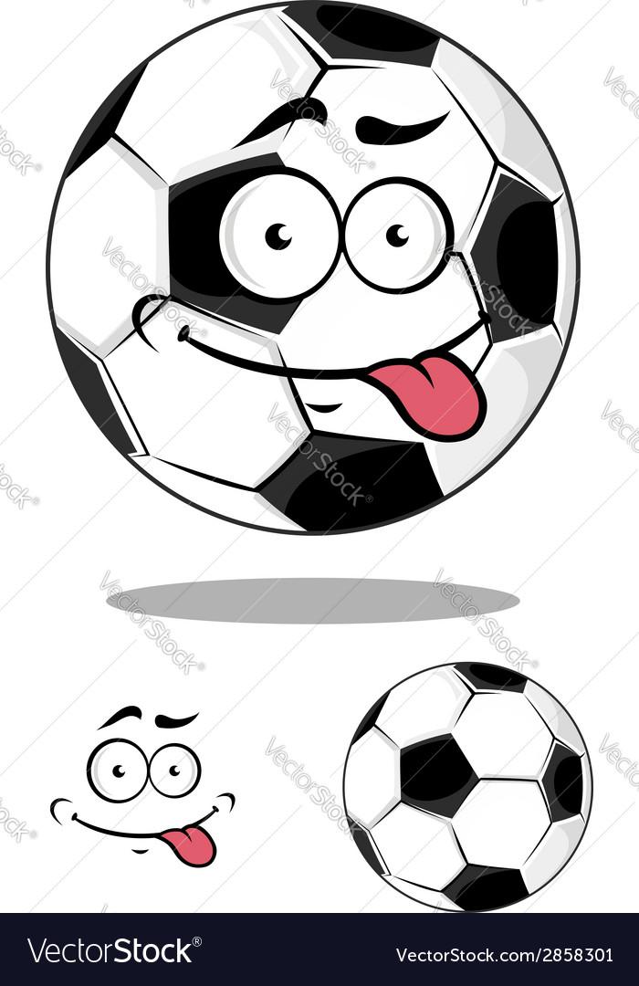 Cartoon soccer or football ball vector | Price: 1 Credit (USD $1)