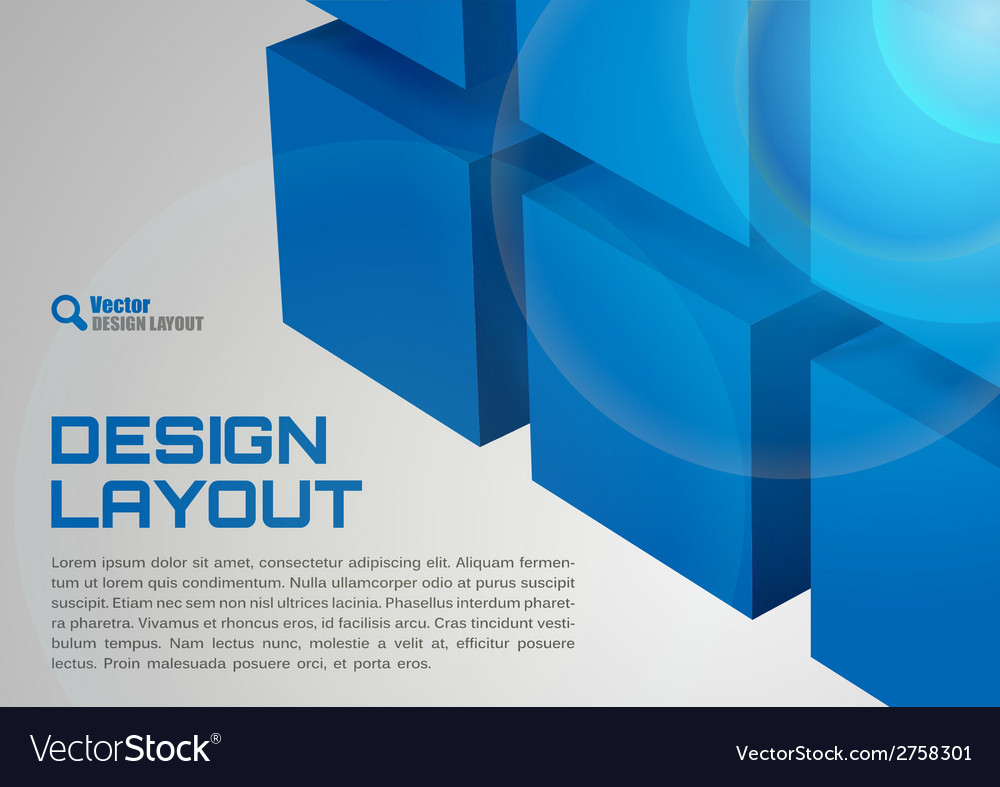 Cube design vector | Price: 1 Credit (USD $1)