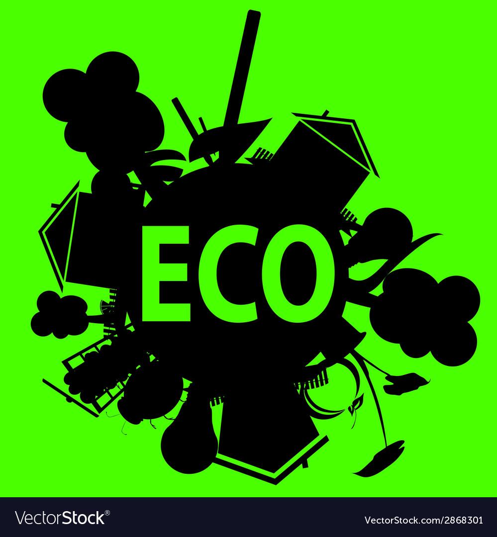 Eco in black vector | Price: 1 Credit (USD $1)