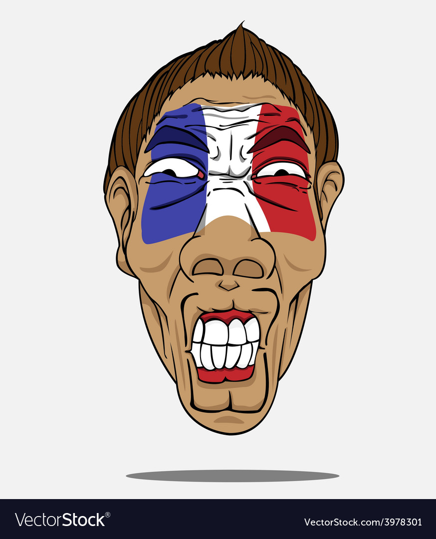 Football fan from france vector | Price: 1 Credit (USD $1)