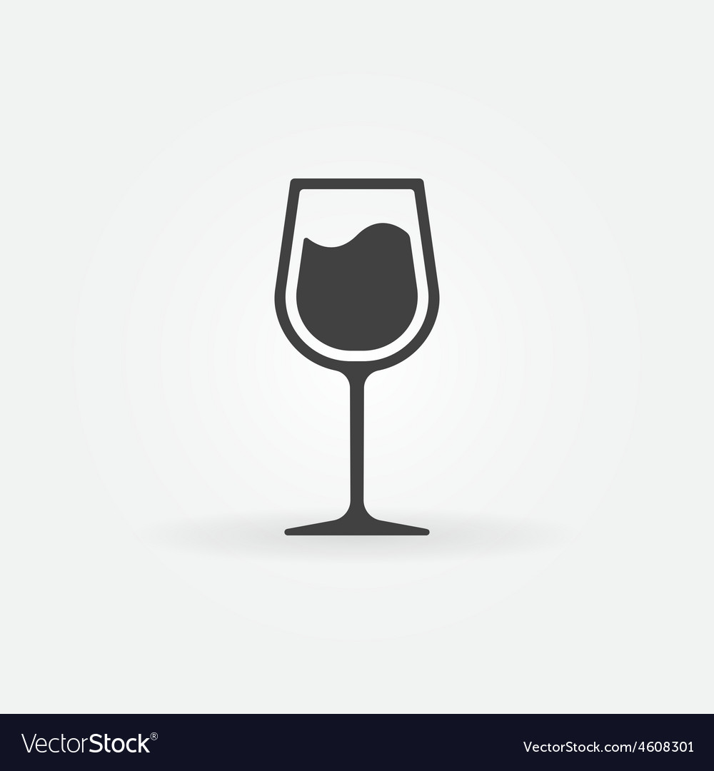 Glass of wine icon vector   Price: 1 Credit (USD $1)