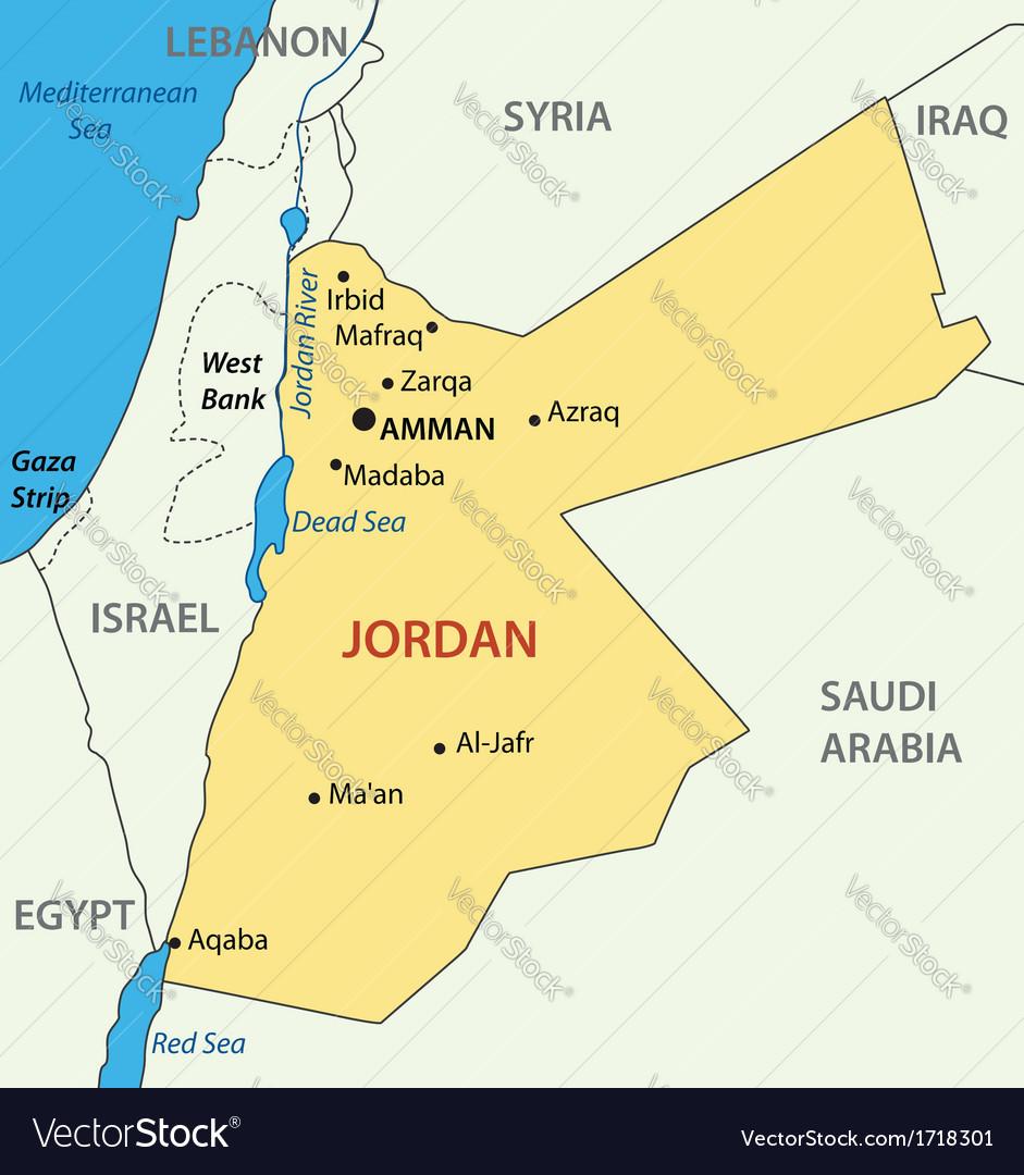 Hashemite kingdom of jordan - map vector   Price: 1 Credit (USD $1)