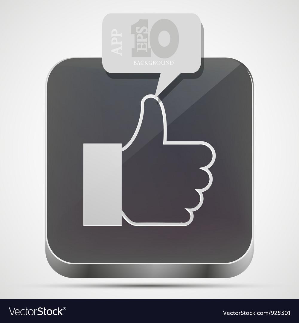 Like app icon vector | Price: 1 Credit (USD $1)