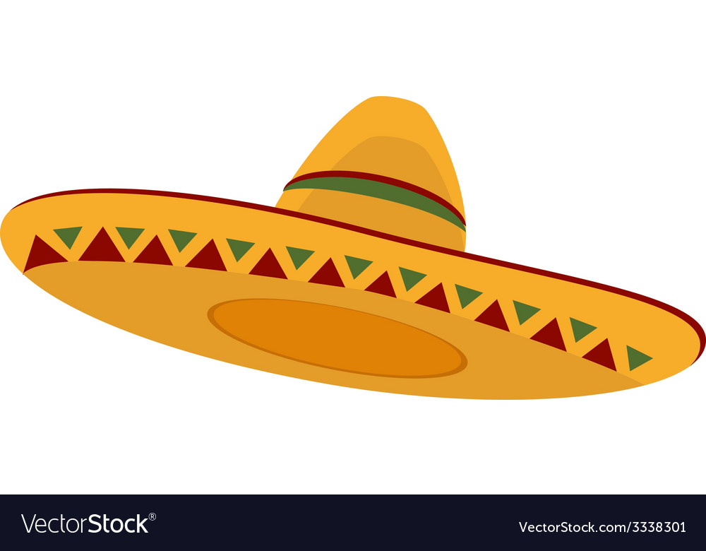 Mexican hat vector | Price: 1 Credit (USD $1)
