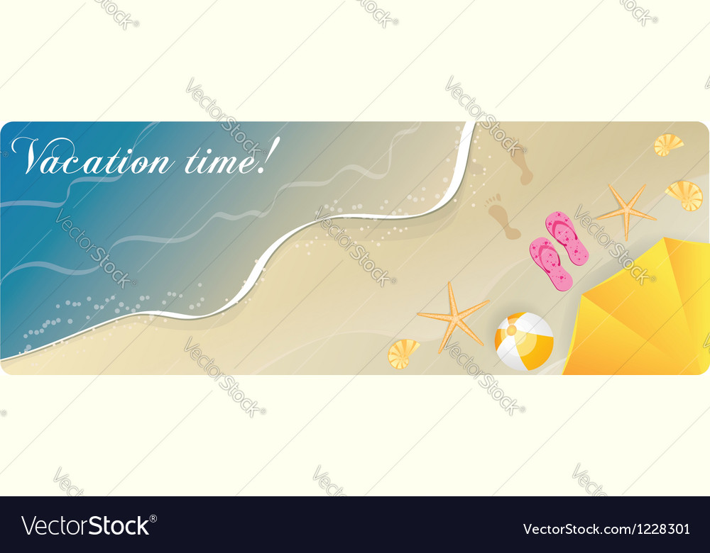 Summer banner sea vector | Price: 1 Credit (USD $1)