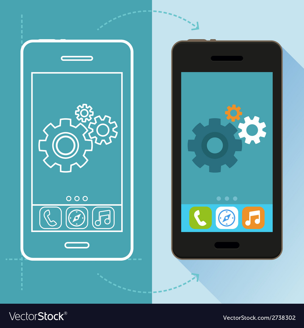 App development concept in flat style vector | Price: 1 Credit (USD $1)