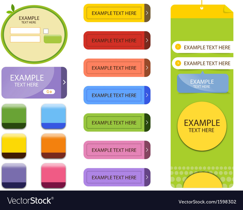 Banner web element vector | Price: 1 Credit (USD $1)