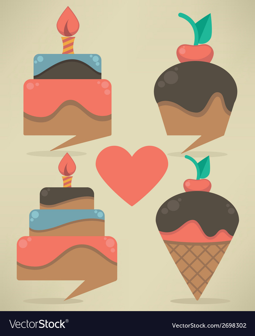 Cakes look like a tags vector | Price: 1 Credit (USD $1)