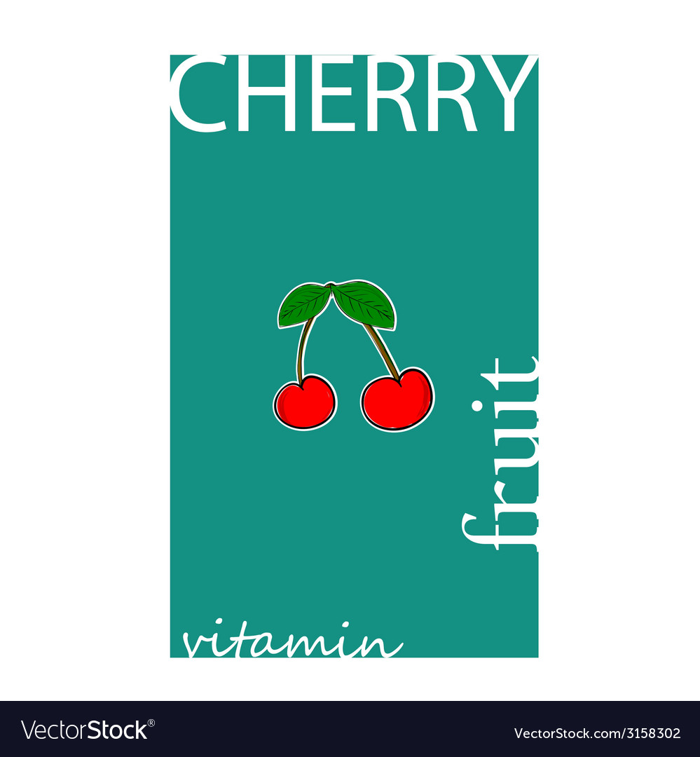 Cherry fruit color vector | Price: 1 Credit (USD $1)