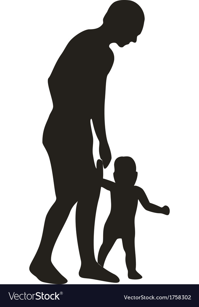 Family silhouette 03 vector | Price: 1 Credit (USD $1)
