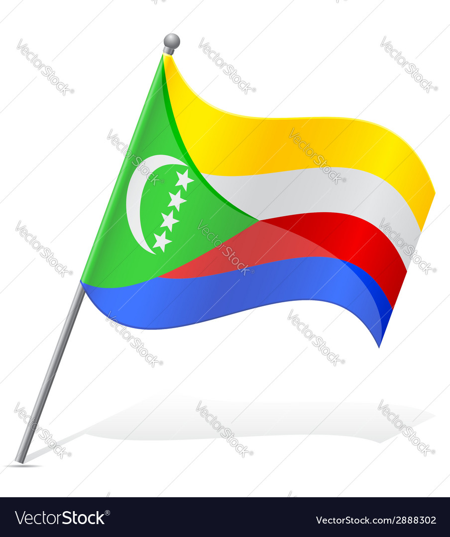 Flag of comoros vector | Price: 1 Credit (USD $1)