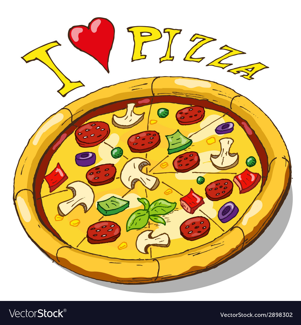 Hand drawing pizza vector | Price: 1 Credit (USD $1)