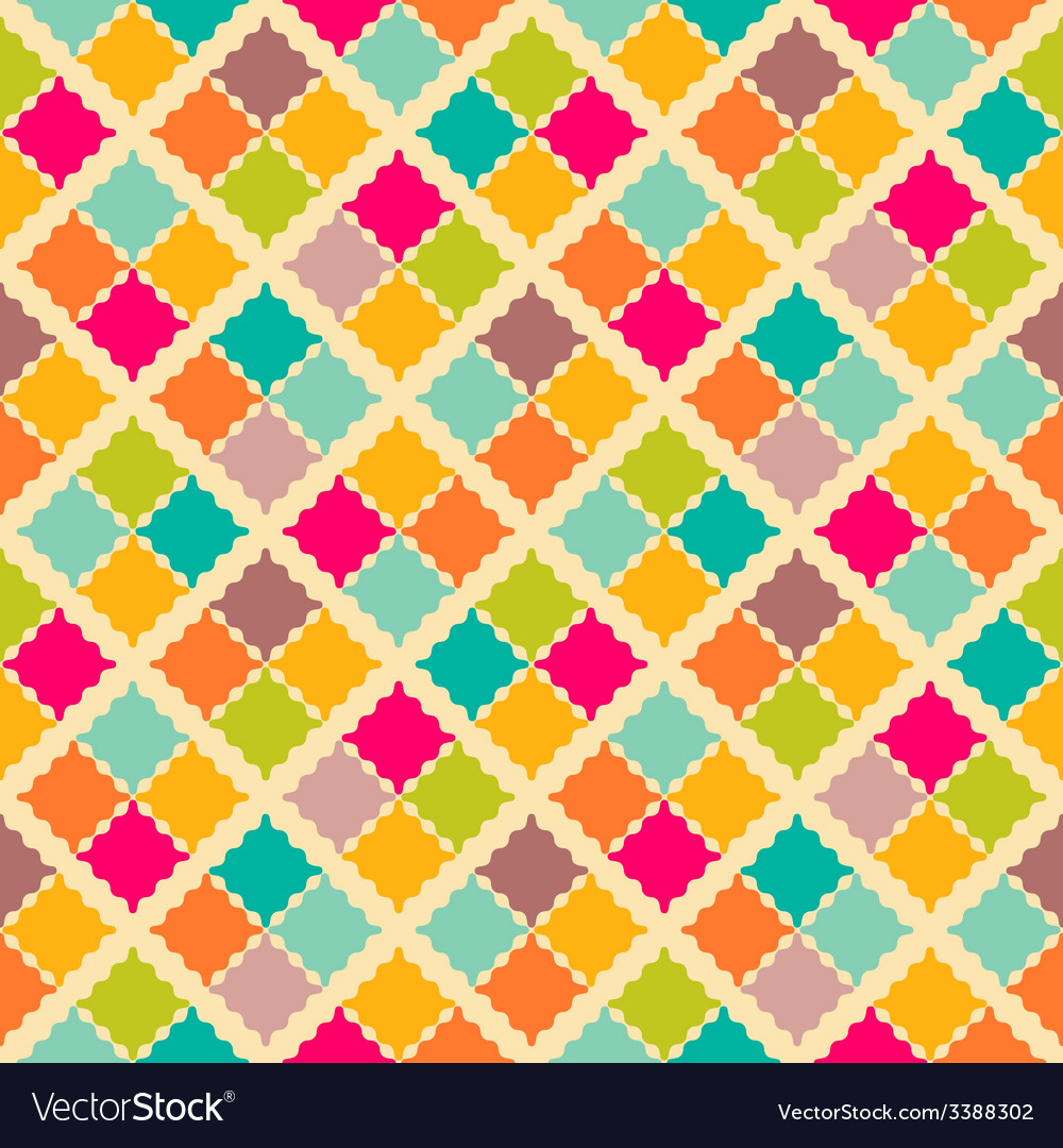 Retro colorful seamless pattern vector | Price: 1 Credit (USD $1)