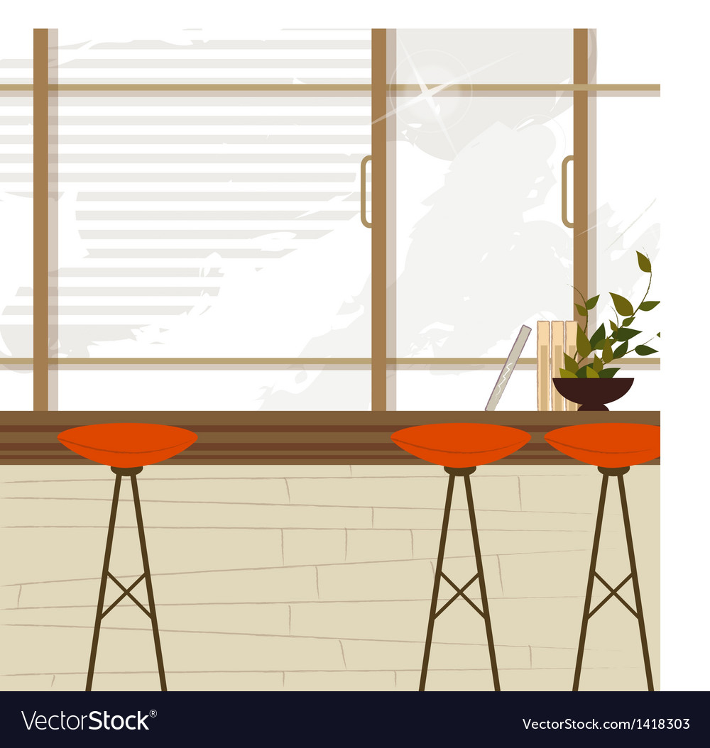 Cafe bar interior vector | Price: 1 Credit (USD $1)