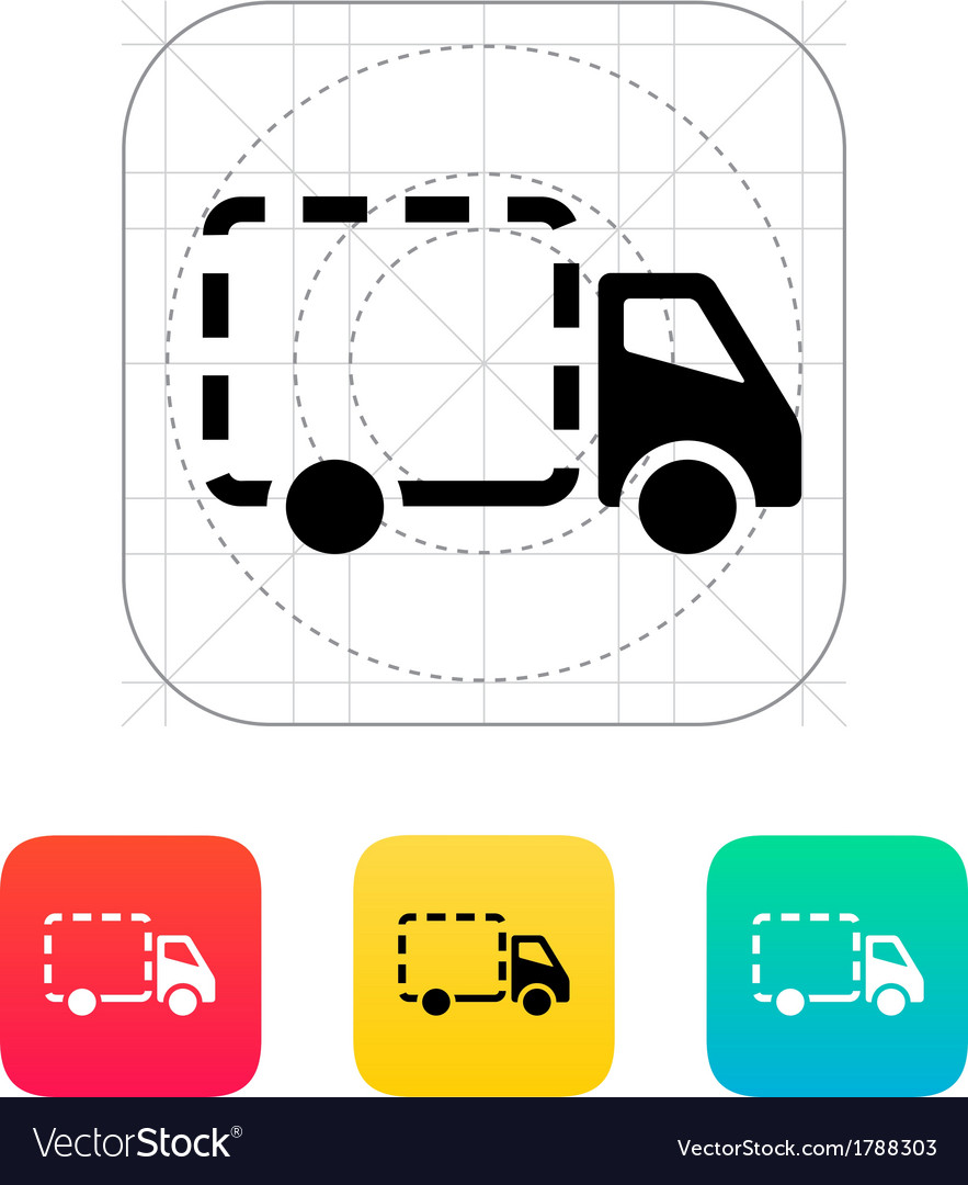 Empty delivery truck icon vector | Price: 1 Credit (USD $1)