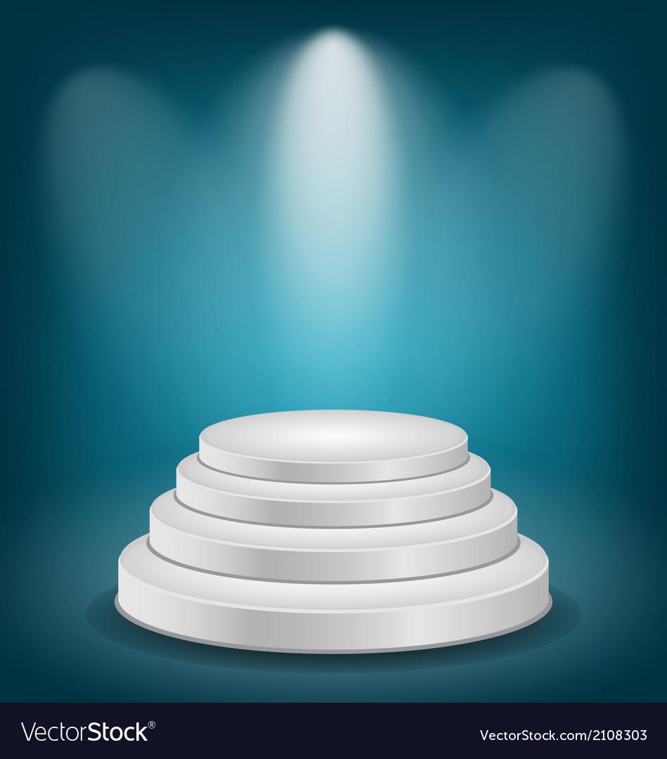 Empty white podium with light vector | Price: 1 Credit (USD $1)