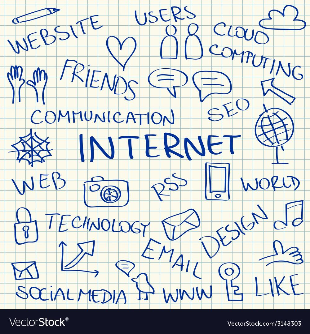 Internet doodles vector | Price: 1 Credit (USD $1)