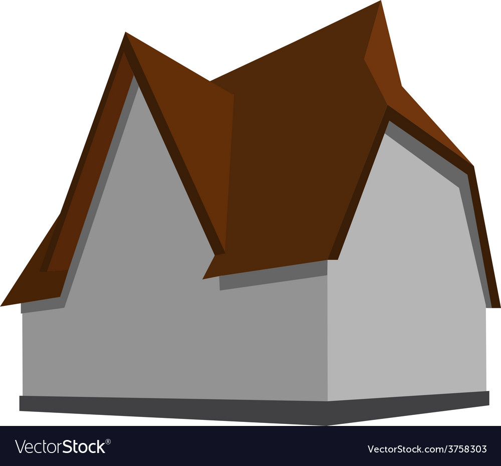 Modern house vector | Price: 1 Credit (USD $1)
