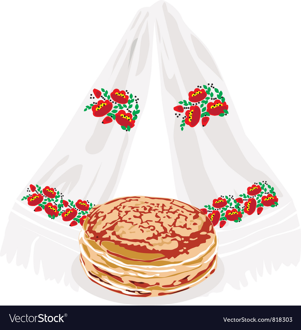 Pancakes and tovel vector | Price: 1 Credit (USD $1)