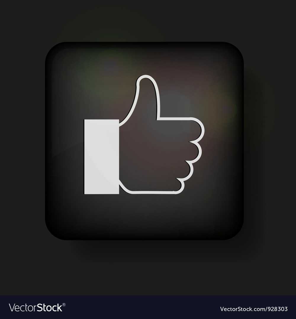 Thumbs up icon vector | Price: 1 Credit (USD $1)