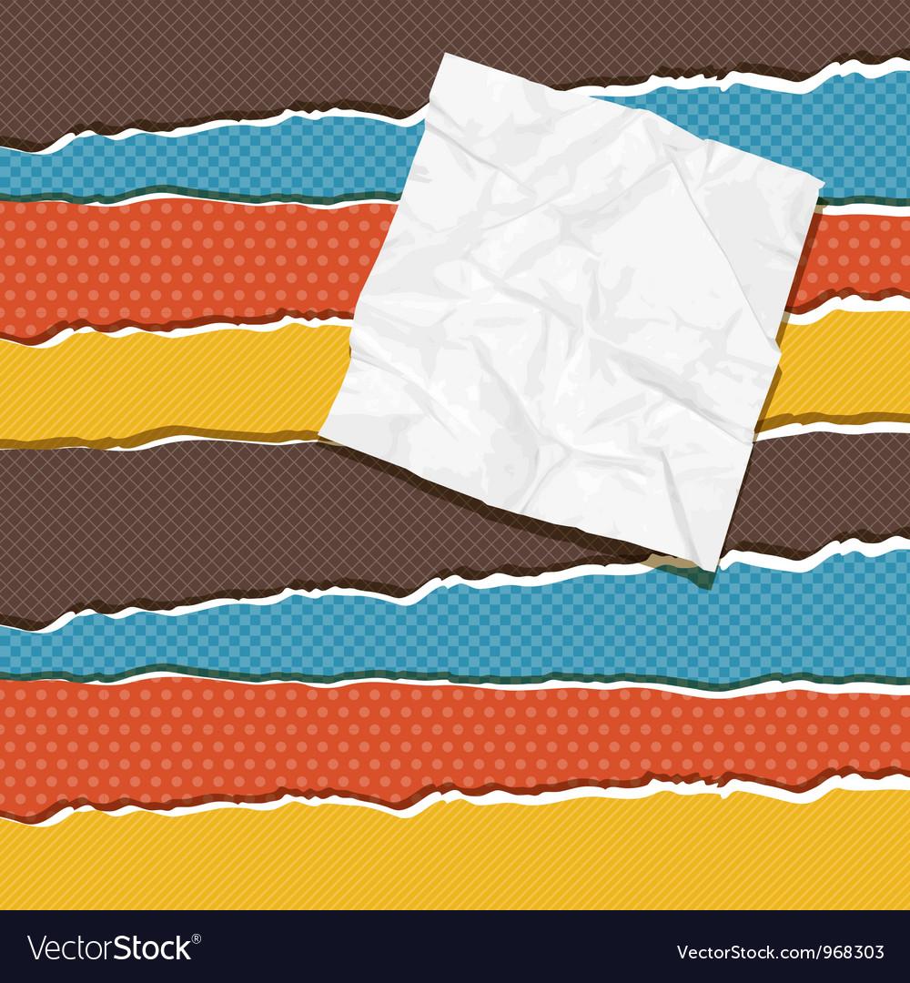Vintage torn paper background vector | Price: 1 Credit (USD $1)