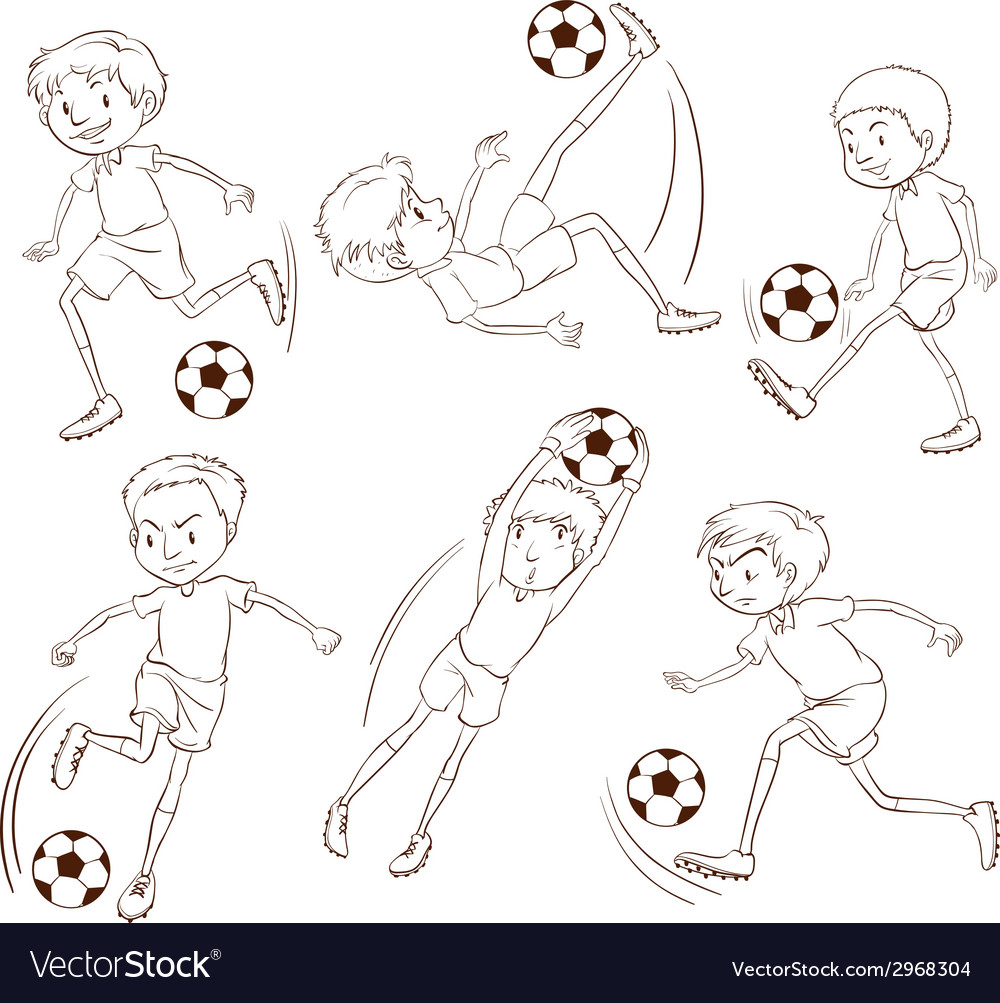 A simple sketch of the soccer players vector | Price: 1 Credit (USD $1)