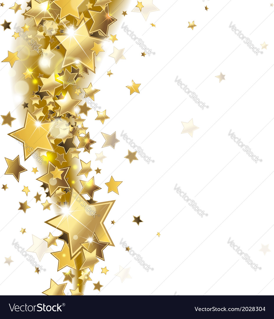 Background with gold stars vector | Price: 1 Credit (USD $1)