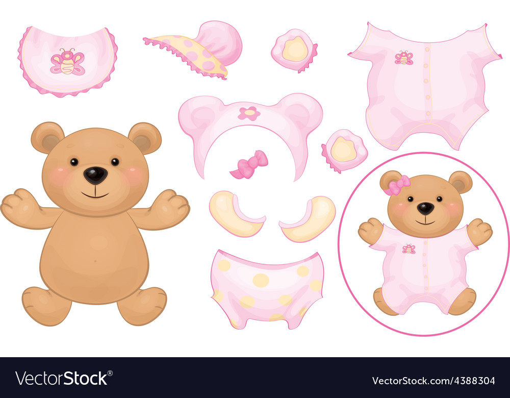 Bear dress up vector | Price: 1 Credit (USD $1)