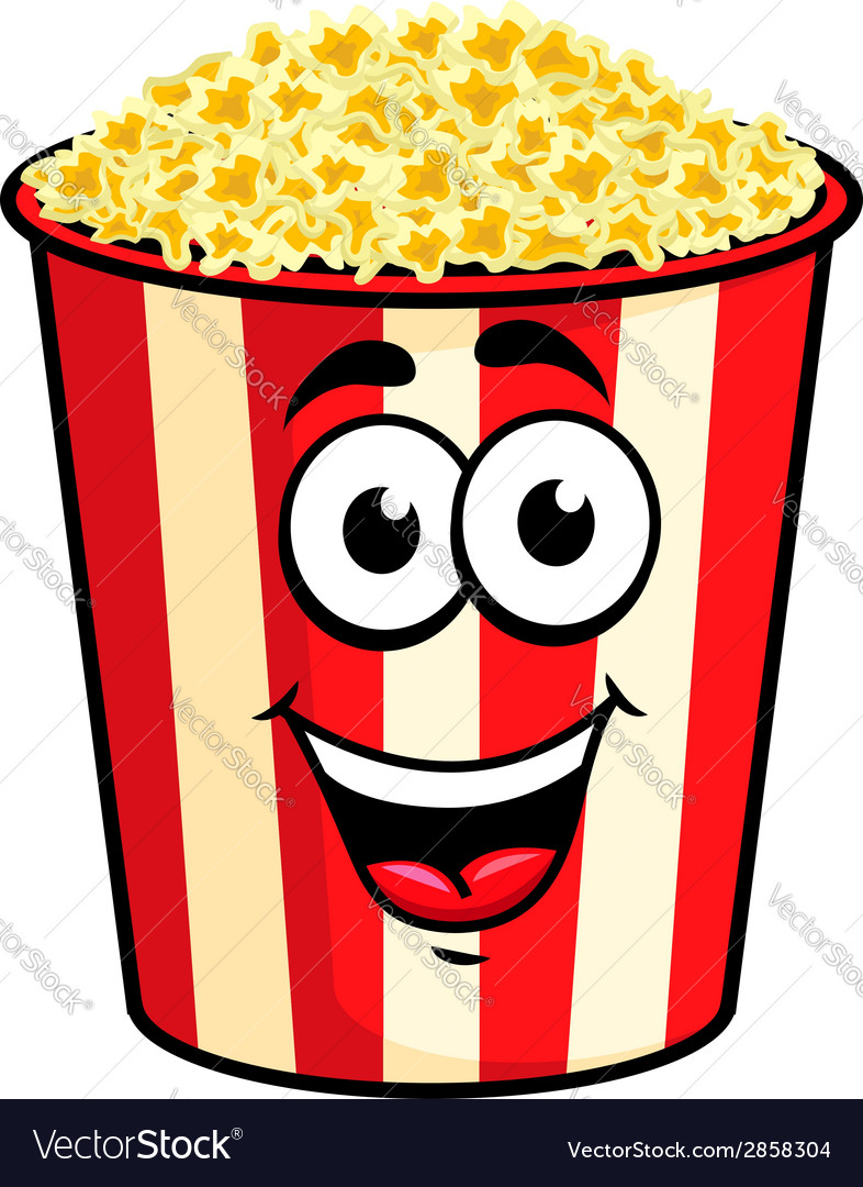 Cartoon popcorn character vector | Price: 1 Credit (USD $1)