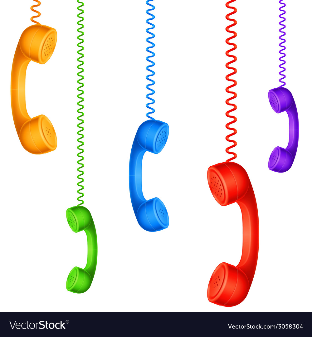 Colored handsets vector | Price: 1 Credit (USD $1)