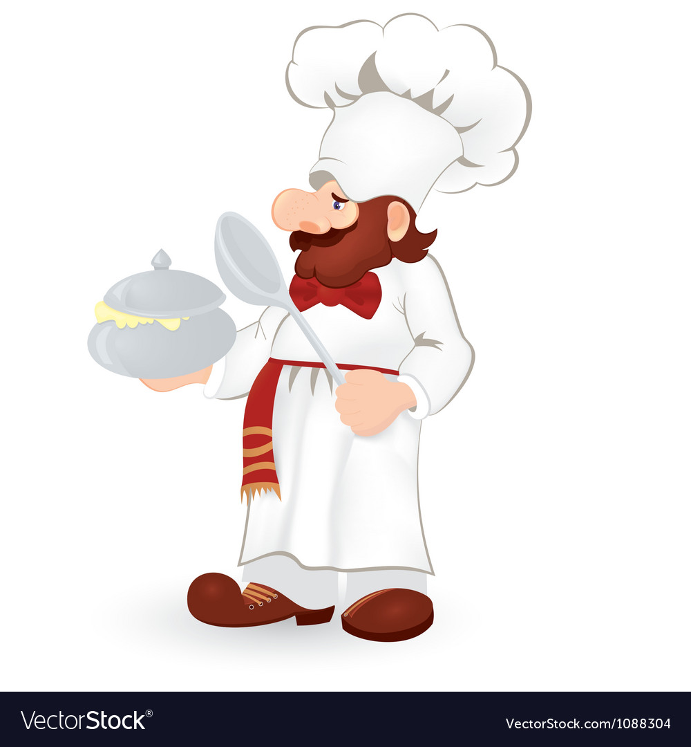 Cook in white uniform vector | Price: 1 Credit (USD $1)