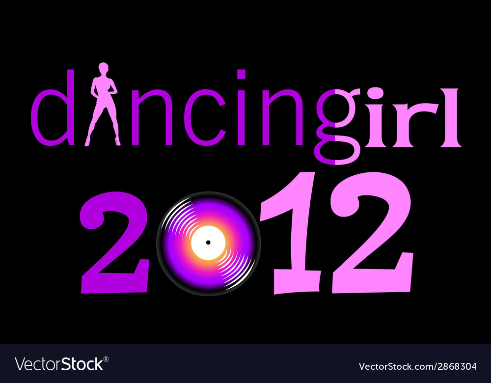 Dancing girl with 2012 year vector | Price: 1 Credit (USD $1)