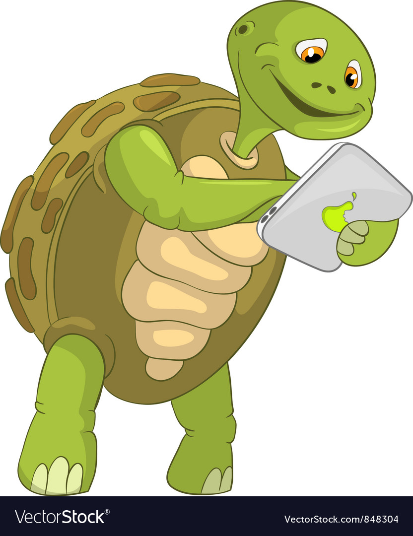 Funny turtle touch screen vector | Price: 3 Credit (USD $3)