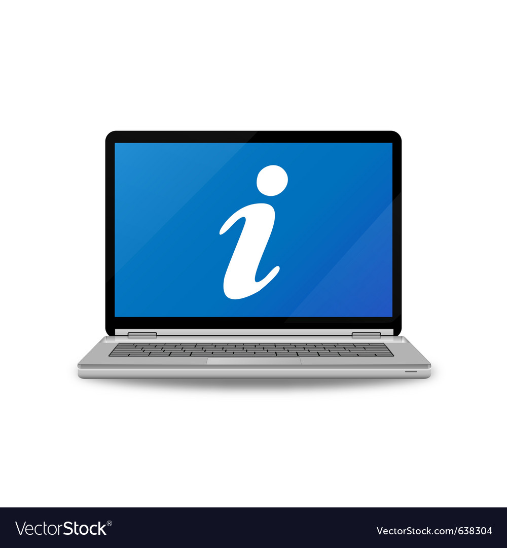 Laptop computer and info sign vector | Price: 1 Credit (USD $1)