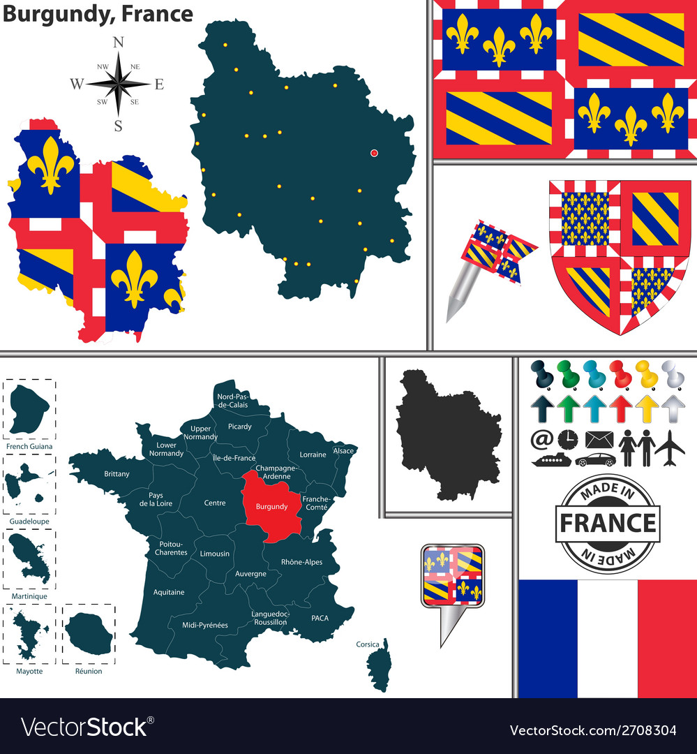 Map of burgundy vector | Price: 1 Credit (USD $1)