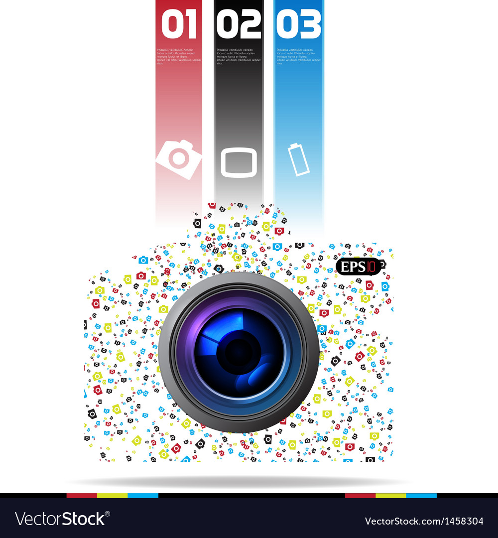 Photo camera vector | Price: 1 Credit (USD $1)