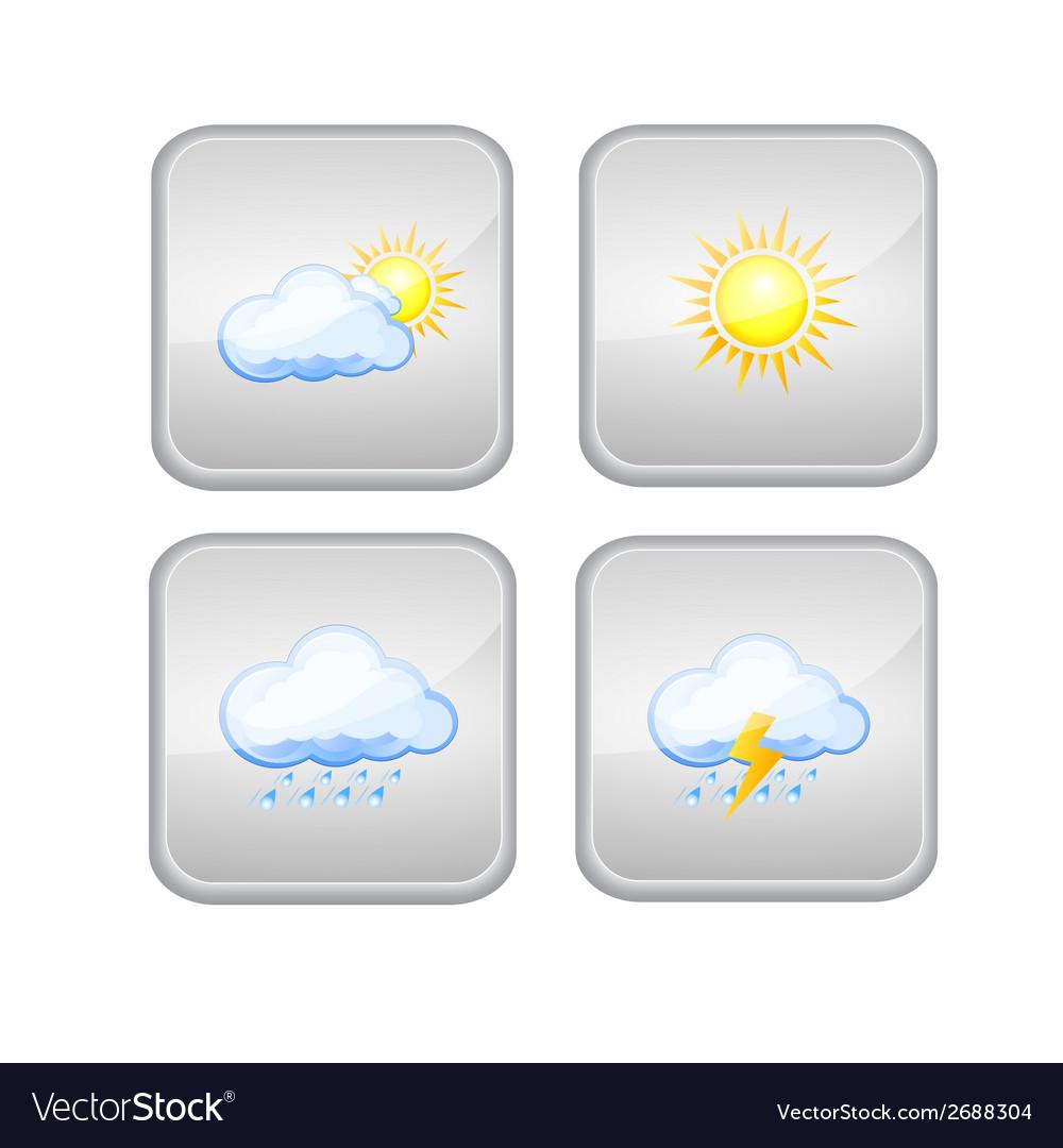 Set icon weather vector | Price: 1 Credit (USD $1)