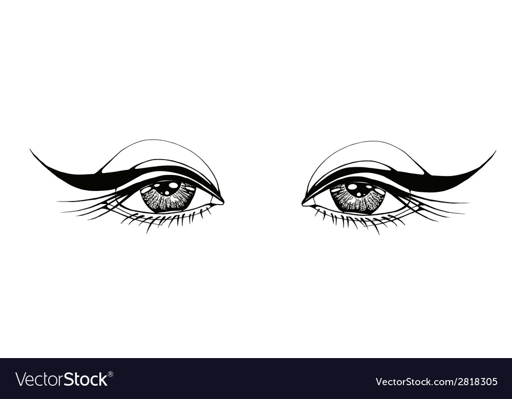 Beautiful woman eyes vector | Price: 1 Credit (USD $1)