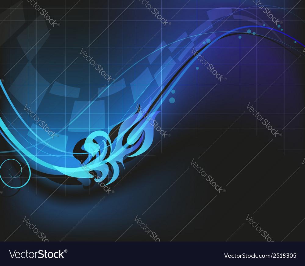 Blue digital background vector | Price: 1 Credit (USD $1)