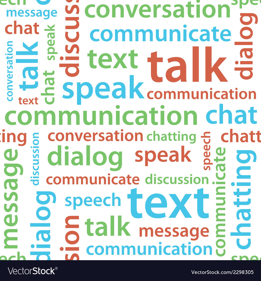 Communication text seamless pattern vector | Price: 1 Credit (USD $1)
