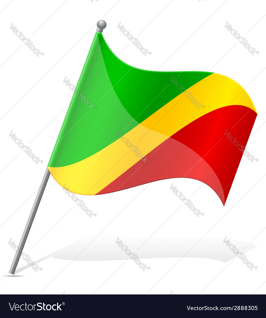 Flag of congo vector | Price: 1 Credit (USD $1)
